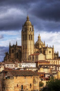 Cathedral of Segovia, Spain.  Go to www.YourTravelVideos.com or just click on photo for home videos and much more on sites like this.