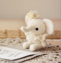 小公主象 羊毛毡戳戳乐 DIY玩偶 手工 不织布