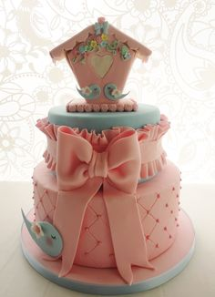 Tarta Bebé_Casita Pájaros http://cakecentral.com/g/i/3181894/birthday-cakes/u/897705/