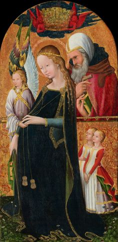 Madonna before Christmas with Saint Joseph the Betrothed, by an Anonymous French master; Museum of Fine Arts, Washington D.C., USA; 15th century