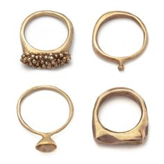 lovely bronze rings by Julie Cohn