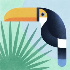 Paris based graphic designer Samy Halim illustrated these stylish geometric birds only using Procreate on an iPad Pro. Art And Illustration, Broderie Simple, Geometric Bird, Animal Design, Bird Design, Design Art, Bird Art, Collage Art, Les Oeuvres