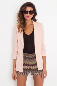 love this outfit, especially the pink blazer.