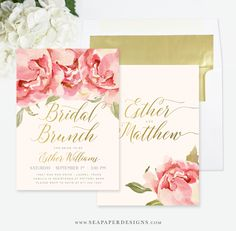 INSTANT DOWNLOAD bridal luncheon invitation bridal brunch