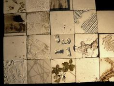 handmade concrete tiles! love the textures