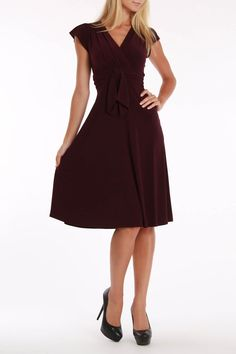 Evan Picone Danica Dress In Plum Wine -