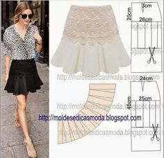 Skirt flounce example pattern