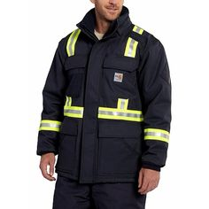 Buy Carhartt FR Coats online. All Seasons Uniforms offers Carhartt 100784 FR Extremes Arctic Coats with reflective tape that will keep you up to code. Shop with us today!