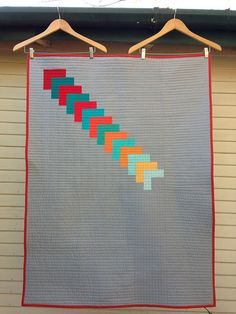 This Way Quilt pattern! - Handmade by Alissa- here is the pattern for this quilt from the Janome website