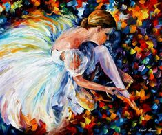 BALLERINA — Palette knife Oil Painting on Canvas by Leonid Afremov - Size discount coupon - on Wanelo Ballerina Painting, Dalida, Leonid Afremov Paintings, Palette Knife, Anime Comics, Oil Painting On Canvas, Knife Painting, Painting Trees, Painting Flowers