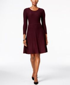 Jessica Howard Fit & Flare Sweater Dress