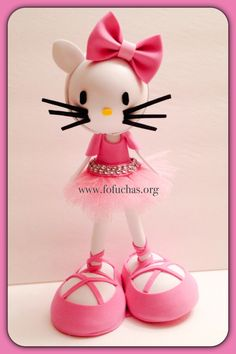 Hello Kitty fofucha doll. Made using foam sheets. tutu is made using pink glittery tulle. Doll is about 11 inches. can be perfect Birthday centerpiece or even a cake topper. To order visit fofuchas.org like us on facebook.com/fofuchashandmadedolls #HelloKitty #Fofuchas #Birthday