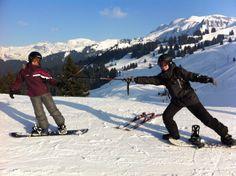 L'escrime en snowboard à Morillon (2014)