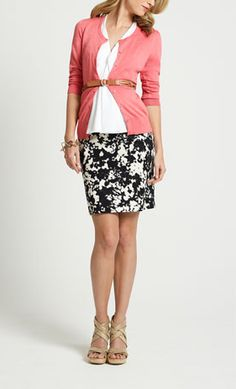 Skirt Work Outfit - Skirt Office Outfit