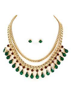 Sadie Necklace in Emerald on Emma Stine Limited Fashion Jewelry Necklaces, I Love Jewelry, Jewelery, Jewelry Accessories, Jewelry Design, Watch Necklace, Emerald Jewelry, Indian Jewelry, Wedding Jewelry