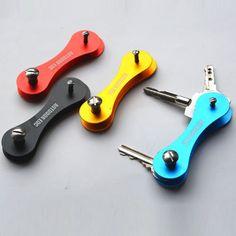 Hard-Oxide-Aluminum-Key-Holder-Organizer-Clip-Folder-Keychain-EDC-Pocket-Tool