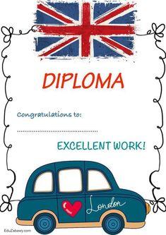 Dyplom za osiągnięcia z języka angielskiego Dyplomy Okolicznościowe Za osiągnięcia językowe English Activities, Cute Kids, Teaching Resources, Congratulations, Presentation, England, Esl, Words, Pictures