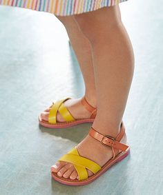 Little Bird by Jools Yellow and Tan Sandals