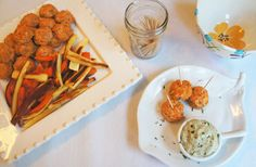 Buffalo Chicken Meatballs & Ranch, With Parsnip & Carrot Fries  by livinglovingpaleo