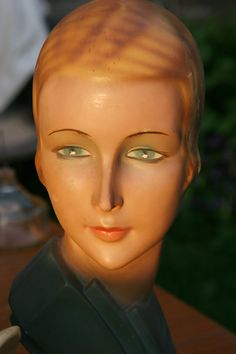 Art Deco Millinery Mannequin WWII Original by AntiqueThingsIsee