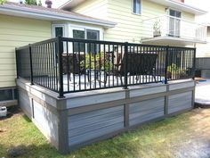 peachy mobile home deck ideas. low maintenance deck skirting idea in grey black wrought iron railing  system dark brown exterior furniture of Raised House Skirting Smart Solution for Image result metal mobile homes For the Home