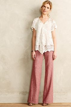 Pilcro Herringbone Linen Trousers #anthrofave