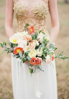 Bouquet with greenery