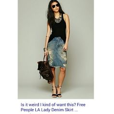 DESPERATELY ISO Free people LA lady denim skirt Looking for size 29 or 30 in either color -found in 28 but want a looser fit. Pleeeeaase tag me of you have one thank you!  Willing to pay full retail price thank you! Free People Skirts