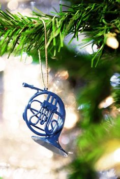 Blue French Horn | HIMYM | Ornament | Ted | Robin | Romance | Holiday | Decor