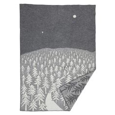 House in the Forest wool blanket