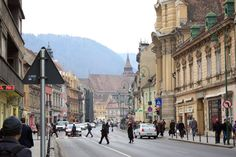 Walking through Brasov Center
