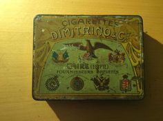 ENDS TODAY – Vintage Dimitrino and Co Cigarette Tin 100 Capacity