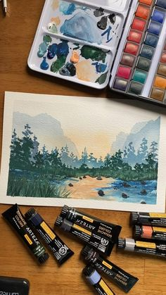 Watercolor Painting Techniques, Watercolor Paintings, Watercolor Classes, Watercolor Books, Watercolor Sketchbook, Watercolor Tips, Watercolors, Small Canvas Paintings, Diy Canvas Art