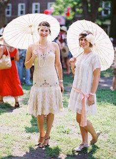 """Can't wait for the  new """"Great Gatsby"""" movie. Neither can this flapper fans at a Jazz Age Party on Governors Island"""