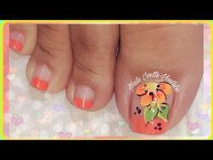 En este video te muestro como hacer un diseño de pies bastante fácil. Espero sea de tu agrado. No olvides SUSCRIBIRTE Y ACTIVAR LA CAMPANITA DE NOTIFICACIONE... Pretty Toe Nails, Pretty Toes, Cute Nails, Pedicure Nail Art, Toe Nail Art, Toe Nail Designs, Creative Nails, Short Nails, Nail Arts