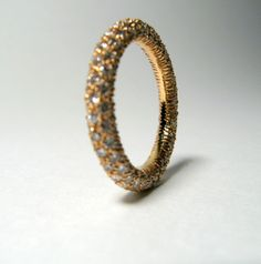 18kt Rose Gold Diamond Wedding Ring
