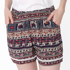 33fce5a1d Find More Shorts Information about SUNCHOI Women Print Boho Shorts Animal  Multi pattern Femme Thin Section