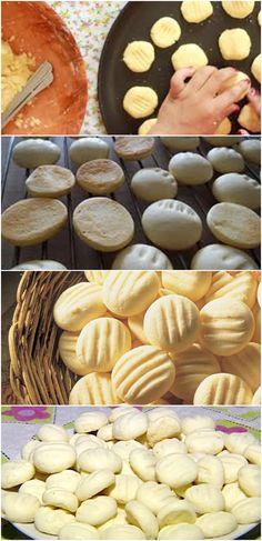 Receita de sequilho (aquele que derrete na boca) VEJA AQUI>>>Coloque metade do amido de milho em uma tigela. Acrescente o açúcar, a manteiga e as gemas e misture. #receita#bolo#torta#doce#sobremesa#aniversario#pudim#mousse#pave#Cheesecake#chocolate#confeitaria