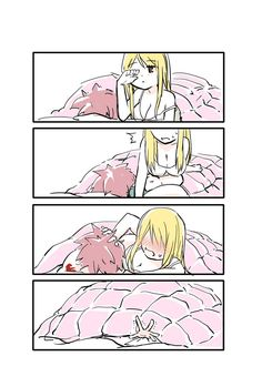 Keep it a secret inside your bed . Natsu Fairy Tail, Fairy Tail Lucy, Anime Fairy Tail, Fairy Tail Comics, Fairy Tail Family, Fairy Tail Couples, Fairy Tail Ships, Fairytail, Gruvia