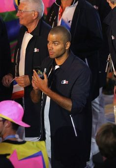 #RIO2016 Tony Parker of team France during the Olympic Games opening ceremony at Maracana Stadium on August 5 2016 in Rio de Janeiro Brazil