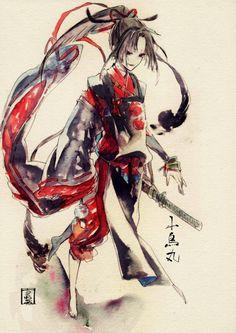 #小烏丸 #Kogarasumaru / #刀剣乱舞 #ToukenRanbu Fun Comics, Manga Comics, Character Art, Character Design, Touken Ranbu Characters, Female Art, Game Art, Comic Art, Manga Anime