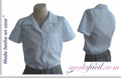Imagen de una Blusa escolar para niñas y niños