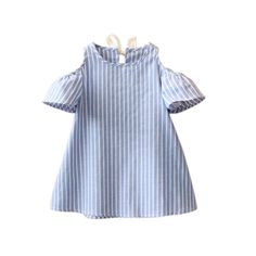 Cheap dress girl, Buy Quality dress toddler directly from China girls clothing Suppliers: Free Shipping 2017 Girls Summer Casual Cotton Dress Off Shoulder Mini Dress Toddler Kids Stripped Simple Dress Girls Clothing