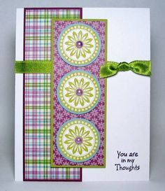 Razzleberry Kiwi Medallions by peebsmama - Cards and Paper Crafts at Splitcoaststampers pretty colours