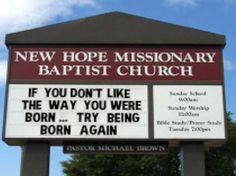 Church sign humor