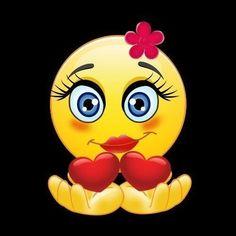 Love Smiley, Emoji Love, Cute Emoji, Funny Emoji Faces, Emoticon Faces, Animated Emoticons, Funny Emoticons, Emoji Images, Emoji Pictures