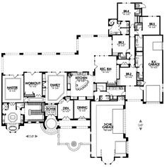 Wow, DREAM floor plan...take away the rv garage and put the 4 xt bedrooms on a second floor with 2 staircases and it'd be perfect