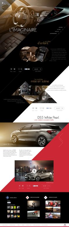 Citroen by Sébastien Durand, via Behance Website Design Layout, Web Layout, Layout Design, Best Web Design, Page Design, Creative Design, Citroen Ds5, Template Web, Website Design Inspiration