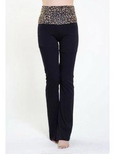 High Waisted Leopard Print Yoga Pants
