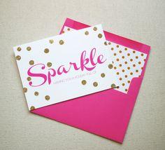 Holiday Full of Sparkle Glittered Greeting by FlairDesigneryLLC, $60.00